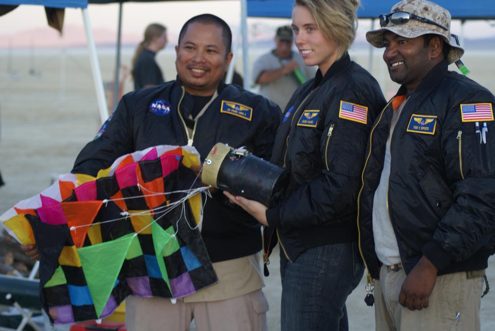 ARLISS 2009 Team with CanSat, Black Rock, Nevada