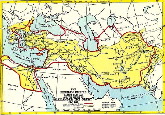 Persia and southwest asia to the indus valley as well as egypt and ultimately greece in the biggest empire the world had yet known see map below gumiabroncs Choice Image