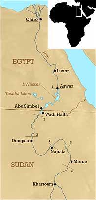 kush kingdom map
